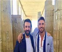 «سوبر ستار».. شاهد كيف احتفل أحمد عز بعيد ميلاد كريم عبد العزيز