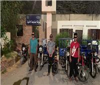 سقوط لصوص الدراجات النارية في بولاق أبو العلا
