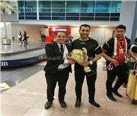 صور| مطار القاهرة يحتفل بوصول كأس العالم لناشئي كرة اليد
