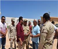 محافظ مطروح يتفقد أعمال تطوير «شاطئ الغرام»