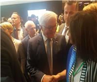 وزيرة الهجرة تلتقي الرئيس الألماني على هامش مؤتمر أديان من أجل السلام