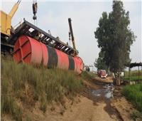 بالصور| السكة الحديدتكشف تفاصيل حادث قطار المناشي