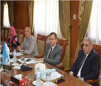 رئيس جامعة المنوفية يجتمع بمجلس إدارة جهاز توزيع الكتاب الجامعى