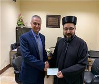 إيبارشية القاهرة للكلدان الكاثوليك تتبرع للمعهد القومي للأورام
