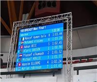عيساوي يحقق فضية ١٠٠ متر صدر بسباحة الألعاب الإفريقية