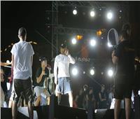 ننشر صور مسرح حفل محمد رمضان في الساحل الشمالي