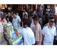 تحرير 14 محضر أشغال  و34 مخالفة تموينية بمركزين بالمنيا