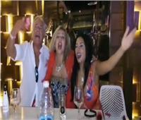 شاهد| رانيا يوسف ترقص في «الساحل» مع مصطفى فهمي وزوجته