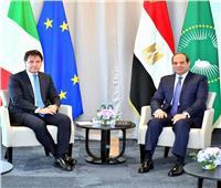 السيسي يؤكد لرئيس وزراء إيطاليا أهمية التوصل لتسوية سياسية في ليبيا تضمن وحدتها وسلامتها الإقليمية