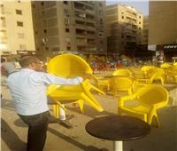 حي المعادي يشن حملة على الباعة الجائلين والمخالفين