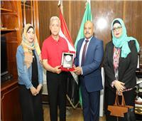 سعيد عباس يتفقد المركز التكنولوجي لخدمة المواطنين بمحافظ المنوفية