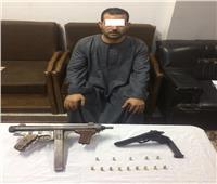 ضبط «تاجر سلاح» بحوزته رشاش في الجيزة