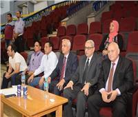 رئيس جامعة المنوفية يشهد بروفات افتتاح أسبوع شباب الجامعات
