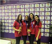 تتويج منتخب الريشة الطائرة بالميدالية البرونزية بدورة الألعاب الإفريقية