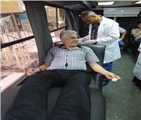 صور| مستقبل وطن يقود حملة للتبرع بالدم لضحايا «معهد الأورام»