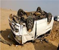 إصابة 9 أشخاص في حادث انقلاب سيارة بطريق البحر الأحمر
