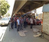 إزالة 15 كشكا مخالفا أسفل كوبري محمد بدوي بحي جنوب المنيا