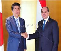 صور| الرئيس السيسي يلتقي رئيس وزراء اليابان على هامش «قمة التيكاد»