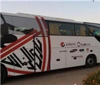 حافلة الزمالك تصل ملعب برج العرب استعدادا لمواجهة المقاصة