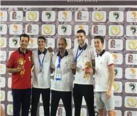 حفل تسليم ميداليات منافسات السلاح بدورة الألعاب الإفريقية
