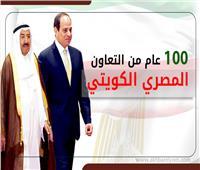 إنفوجراف| 100 عام من التعاون المصري الكويتي