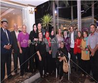 صور  نادية سلامة وهند عاكف في احتفالية منظمة الأمم المتحدة