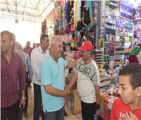 صور| محافظ مطروح يتفقد سوق ليبيا السياحي