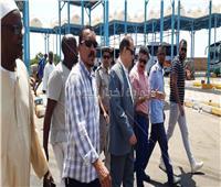 صور| إزالة 57 حالة إشغال بالموقف الدولي بكركر في أسوان