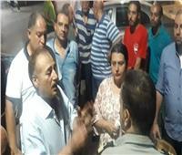 بلدوزر حي الأزبكية يرفع الإشغالات