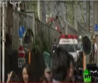 شاهد| لحظة اصطدام قطار اليابان السريع بشاحنة