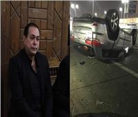 صور | حكيم يتعرض لحادث سير على طريق السويس