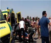 إصابة 6 أشخاص بحادث انقلاب سيارة في المنيا