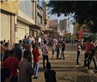 فيديو | السيطرة على حريق محل أقمشة في بولاق أبو العلا