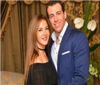 شاهد| دنيا سمير غانم تحتفل بعيد ميلاد زوجها رامي رضوان