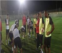 عبد الله يؤازر المنتخب الأوليمبي قبل مواجهة السعودية الثانية