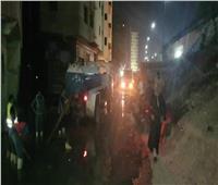 شفط مياه الصرف بشارع 6 أكتوبر ببولاق الدكرور وتركيب أغطية للبالوعات بالعمرانية