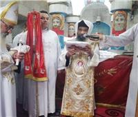 أسقف حلوان يصلي قداس عيد الأنبا برسوم العريان بديره بالمعصرة