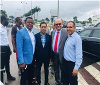 سفير مصر في في غينيا يستقبل وفد الأهلي
