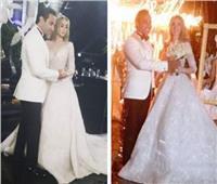 شاهد| الصور الأولى من حفل زفاف هنا الزاهد وأحمد فهمي