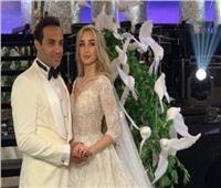 فيديو| أحمد فهمي وهنا الزاهد يرقصان في حفل زفافهما