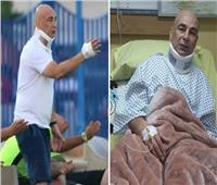 صور  «حسام حسن» من غرفة العمليات إلى الملعب في أقل من 24 ساعة