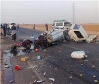 بالأسماء.. إصابة ٧ أشخاص في تصادم مروع بالطريق الصحراوي بالبحيرة