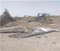 حملات لإزالة التعديات على الأراضي الزراعية بمراكز المنوفية