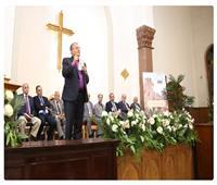 خلال كلمته بمئوية الكنيسة الإنجيلية الفجالة| زكي: الكنيسة نور بهذا العالم