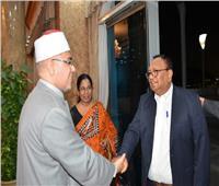 استقبال وزير البريد والشئون الدينية بسيريلانكا قبل مؤتمر الأوقاف الثلاثين
