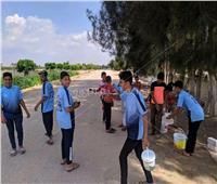 صور| انطلاق «مبادرة شارك ونظف» في البحيرة