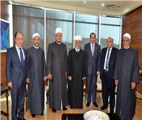 وصول مفتي لبنان والوفد المرافق له لحضور المؤتمر الثلاثين للمجلس الأعلى للشئون الإسلامية