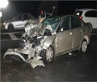 مصرع وإصابة 4 أشخاص في انقلاب سيارةبطريق العلمين