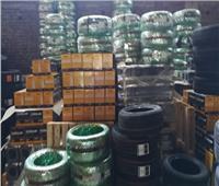 تموين الإسكندرية: ضبط مخزن للبطاريات وإطارات السيارات مجهول المصدر