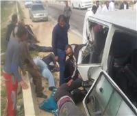 إصابة 4 أشخاص في تصادم 4 سيارات على محور صلاح سالم